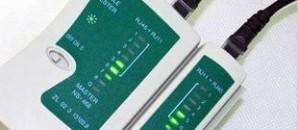 тестер компьютерной сети/телефонной линии RJ45 RJ11 RJ12